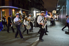 Marching Band (*~Dharmainfrisco~*) Tags: dharma dharmainfrisco new orleans louisiana night walk walkabout travel tour 2016 hustler palace cafe french quarter bourbon street life nightlife usa state south southern wedding marching band parade celebration traditional musicians time