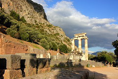 Sanctuary of Athena Pronaia (ika_pol) Tags: unesco unescogreece worldheritage greece delphi ancient ancientgreece ancientruins ancientarchitecture antiquity parnassusmountains parnassus mountains tholos delphitholos