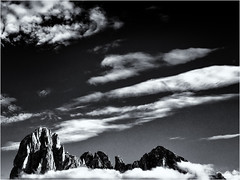 There is always something above... (Ody on the mount) Tags: abstrakt anlässe berge dolomiten em5ii filmkorn fototour gipfel himmel italien langkofel langkofelgruppe mzuiko1250 omd olympus rahmen südtirol urlaub wolken workshop bw clouds monochrome mountains sw ortisei trentinoaltoadige it