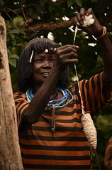 Konso Cotton Spinner (Rod Waddington) Tags: africa african afrique afrika äthiopien ethiopia ethiopian ethnic etiopia ethnicity ethiopie etiopian omo omovalley outdoor konso tribe traditional tribal culture cultural people cotton spinning handcraft
