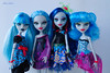 zombie girls (Alice Milich) Tags: monster high ghoulia yelps doll 16 sweet screams sweetscreams classroom skull shores skullshores fusioninspired ghouls fusioninspiredghouls