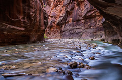 Long Exposure in The Narrows (Jeffrey Sullivan) Tags: virgin river narrows canyon zion national park springdale southern utah usa american southwest landscape nature travel photography canon digital rebel xt photo copyright jeff sullivan 2006 september hdr photomatixpro