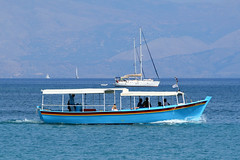 Ferry to Pontikonisi (geomaret) Tags: corfu mouseisland pontikonisi vlacherna ferry boat kerkyra kanoni woodenboat sofia