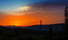 FROM BLUE TO RED (Des Hawley,) Tags: deshawley spain andalusia malaga ronda sunset worldpeacehalloffame thegalaxyhalloffame thegalaxystarshof over1000views