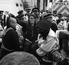 Arrest 2 (_p_e_r_s_e_p_h_o_n_e_) Tags: conservativepartyconferencemanchester2017 manchester monochrome streetphotography conservativepartyconference protest police uniform toryparty people arrest sigma1750mmf28 canoneos80d