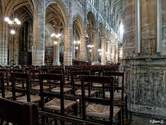 ... (Jean S..) Tags: church indoors religion chairs paris old ancient stone
