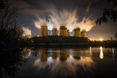 Drax Power Station (Richard Croft136) Tags: powerstation energy environment environmental coolingtower chimney steam reflection lake water selby northyorkshire york power electricity clouds