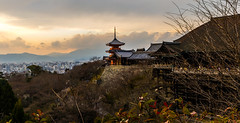 Kyoto in Winter (Jared Beaney) Tags: japan japanese photography photographer travel canon6d canon kyoto kiyomizudera views sunset temple buddism buddist