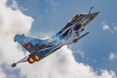 French Air Force Dassault Rafale C 4-GL into the sun (1 of 1)