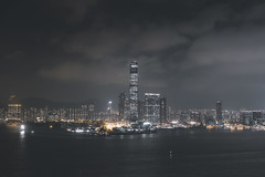 Hong Kong (Jan Senderek) Tags: hong kong hk hkg sony a7r2 a7rii sonyalpha wide angle nikkor nikon 1424mm fotodiox pro skyline night lights skyscrapers buildings city view dark agameoftones moody sea water bay china clouds