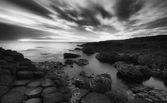 Evening Stax (-- Q --) Tags: giantscauseway antrimcoast countyantrim northernireland atlanticocean causewaycoast monochrome blackwhitephotos lee09softgrad lee06softgrad marumidhgcpl atmosphere clouds coastroad rocks qthompson