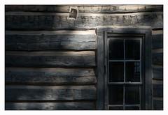 The 1875 Dr. Flick Cabin (Rick Olsen) Tags: dwwg window minimal details southdakota