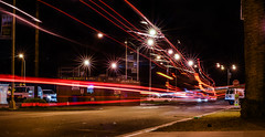 island market (pbo31) Tags: sanfrancisco california night dark september fall 2017 boury pbo31 color nikon d810 lightstream motion traffic roadway treasureisland bus black island market store tourist tour red orange stop