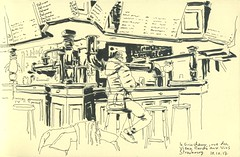 Drink and Draw au Grincheux - Strasbourg (lolo wagner) Tags: urbansketchers usk croquis sketch strasbourg bar café
