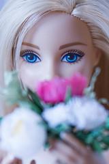 wedding bouquet for Barbie (kinmegami) Tags: barbie madetomovebarbie miniatureflowers miniature bride bouquet rose peonies carnations