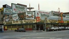 Nathan's Coney Island (Meredith Jacobson Marciano) Tags: sign nathans neon coney