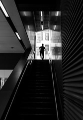The running Man (Jonathan Vowles) Tags: stairs staircase run silhouette lines
