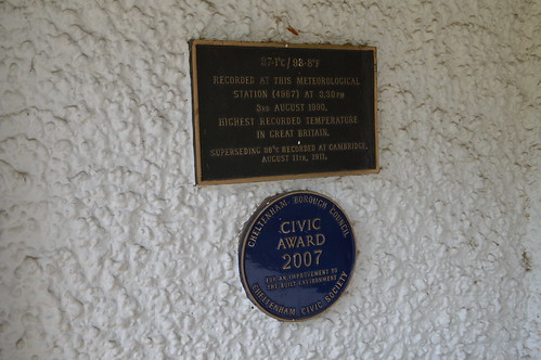 Weather record plaque