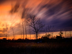 Vibrant Sunset (Adam C Images) Tags: nikon d800 full frame dslr long exposure filters nisi canada global sunset warmth warm colours 10 stop nd big stopper lee 4 soft edge grad polarizer v5 filter holder south frontenac township kp trail verona ontario tamron 2470 vc f28