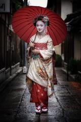 She is beautiful (karinavera) Tags: night photography urban ilcea7m2 street geisha people japan kyoto