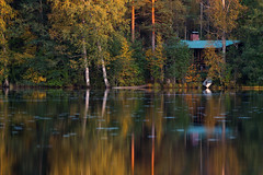 Touch Of Autumn (Jyrki Salmi) Tags: jyrki salmi kangasniemi finland autumn lake cottage reflection
