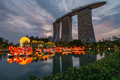 Mid-Autumn at Gardens (BP Chua) Tags: gardensbythebay garden singapore travel tourism marinabay marinabaysingapore marinabaysands sunset water reflection hotel nion d800e wideangle landscape midautumn festival lantern colours chinese tradition