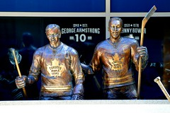 Dave Keon & George Armstrong .... Toronto Maple Leafs 'Legends Row' .... Air Canada Centre .... Toronto, Ontario (Greg's Southern Ontario (catching Up Slowly)) Tags: hockey hockeyplayer bronzestatues legendsrow mapleleafsquare georgearmstronghockeyplayer torontomapleleafs georgearmstrongbronzestatue davekeon davekeonbronzestatue nikon nikond3200 torontoist