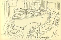 Citroën Trèfle à l'Atelier de Jojo - Strasbourg (lolo wagner) Tags: strasbourg car carrosserie garage voiture croquis sketch urbansketchers