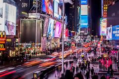 New York Times Square (Victorh.Carrera) Tags: timessquare newyorkcity lights nights longexposition cars people