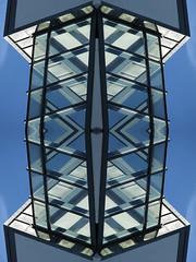 Fuse (Ed Sax) Tags: sicherung edsax abstrakt surreal phantastisch illusion blau white black glas architektur hamburg barmbek