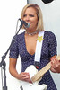 Kylie (peterkelly) Tags: digital northamerica canada ontario toronto echobeach 2017 cbcmusicfestival concert music musician mike mic microphone kyliemiller thebeaches beautiful hot woman guitar player playing guitarist blue dress blonde festival