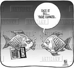Estrogen in Our Waters ! ? (DES Daughter) Tags: estrogens drugs cartoon
