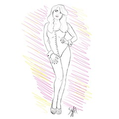 DreamGirl (Seif Eldin Hamed) Tags: woman sexy dream girl love lust desire body sketch art artwork illustration illustrator design