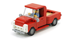 Red Pickup Truck (de-marco) Tags: lego town city car truck pickup 5stud