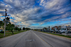 Late Afternoon Sky (kendoman26) Tags: hdr nikhdrefexpro2 niksoftware nikon nikond7100 tokinaatx1228prodx tokina morrisillinois clouds sky road