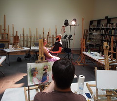 PA040138 (photos-by-sherm) Tags: cameron art museum wilmington nc fall class instruction watercolor painting models classroom