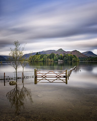 the gate (akh1981) Tags: landscape lakedistrict lake longexposure manfrotto mountains travel trees tranquil outdoors nikon nisi wideangle water walking reflections derwent cumbria clouds calm catbells