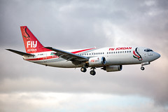 JY-SOB Boeing 737-33V Fly Jordan (Andreas Eriksson - VstPic) Tags: jysob boeing 73733v fly jordan flyjordan6848 from aqaba via amman