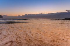 Dawn Seascape (Merrillie) Tags: daybreak sand landscape macmastersbeach nature dawn bouddipeninsula newsouthwales clouds earlymorning nsw beach centralcoast australia sunrise sea coastal seascape sky waterscape outdoors coast water waves