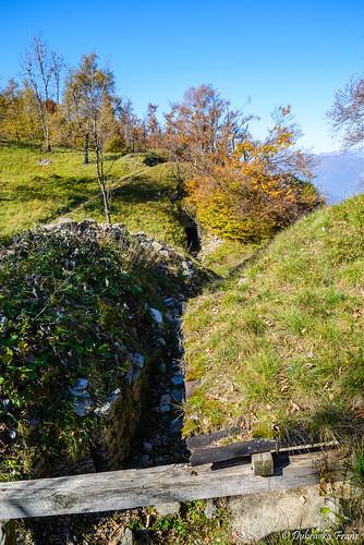 Italian trenches on Isonzo front on Kolovrat mountain