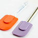 Colorful silicone spatulas , close up