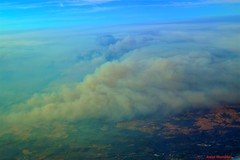 California Wild Fires (Anton Shomali - Thank you for over 1 million views) Tags: trees hot burning america usa airlines flight travel clouds blue sky mountains mountain smokey smoke view california wild fires from air north san francisco disaster sad