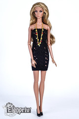 Hand-knitted little black dress (elenpriv) Tags: black dress mini little natalia brazen beauty fashionroyalty fashion doll integrity toys jason wu 12inch elenpriv elena peredreeva handmade handknitted