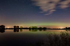 Lough Neagh Aurora   [Explore] (Eskling) Tags: aurora borealis northern lights ireland oxfordisland kinnego marina lake calm sky night stars reflections nikon d5500 11mm 16mm tokina