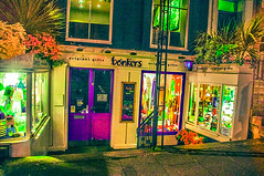 Bonkers (Half A Century Of Photography) Tags: edinburgh bonkers night light art shop restaurant cafe street scotland
