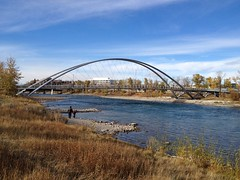 Exploring YYC (Mr. Happy Face - Peace :)) Tags: metallic bridge yyc calgary alberta albertabound bowriver