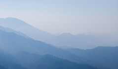 Moments before Sunrise (bharadwaj2191) Tags: canon6dm2 india morning sunrise mountains himalayas canon landscape landscapephotography mist sky forest tree
