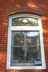 Fells Point window (karma (Karen)) Tags: baltimore maryland fellspoint windows stainedglass walls shadows hww
