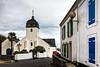 Rue de Locmaria (Lucille-bs) Tags: europe france bretagne morbihan belleîleenmer locmaria architecture couleur rue église croix volet notredamedelassomption palmier mur