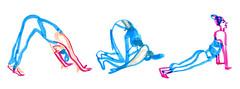 yoga3-2 (marin71) Tags: yoga sketch drawing illustrstion urbansketchers art